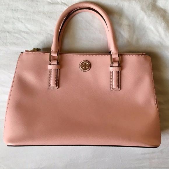Tory Burch Handbags - TORY BURCH Robinson Mini Double Zip Tote Rose Pink